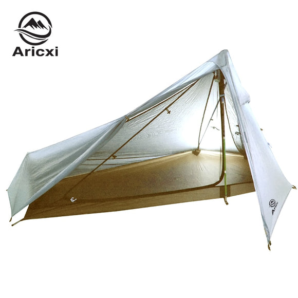 Oudoor Ultralight Camping Tent 3 Season 1 Single Person Professional 15D Nylon 1 Side Silicon Coating Rodless Tent