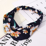 Women Headband Vintage Cross Knot Elastic Hair Bands Soft Solid Hairband Girls Hair Accessories Floral Turban Bandanas Head Wrap