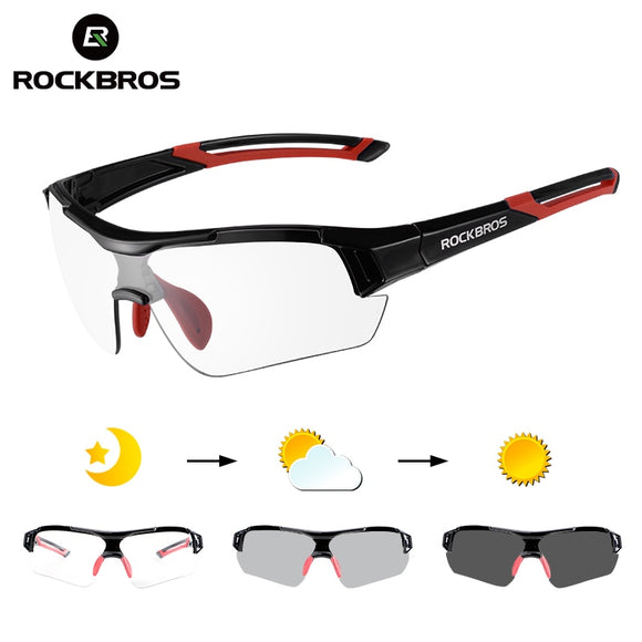 ROCKBROS Photochromic Cycling Glasses Bicycle Outdoor Sports Sunglasses
