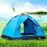 Automatic tent/tent automatic/4 local tourist tent. Automatic tent leisure camping, raincoat tent. Folding tent for hiking. Easy instant installation. Quick automatic opening of the tent. Family tent with a visor
