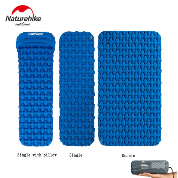 Naturehike Single/Double Air Mat Camping Tent Comfort Sleeping Pad Ultralight Inflatable Mat Moisture-proof Cushion NH