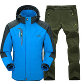 Men Jacket Suit Spring Autumn Jacket Pants Set Windproof Waterproof Male Outdoor Trekking Camping Hunting Climbing Sport Jacket