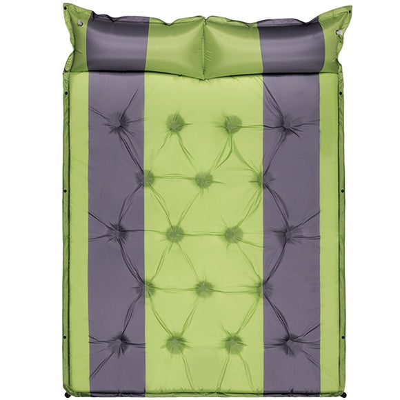 LEVORYEOU Double Self Inflating Camping Sleeping Pad Mattress with Pillows Lightweight Foam for Hiking Picnic Outdoor mat