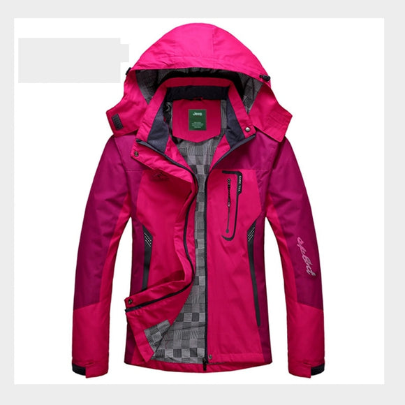 Men Women Spring Autumn Outdoor Hiking Jackets Waterproof Windbreaker Climbing Camping Trekking Rain Coat