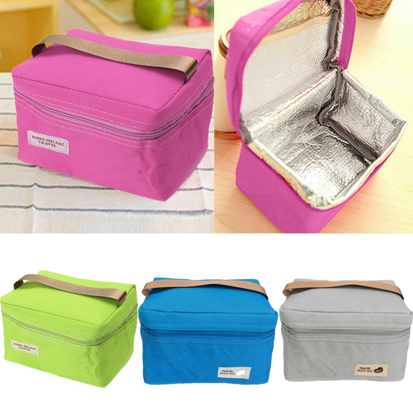 Travel Camping Picnic Bags Portable Insulated Thermal Cooler Lunch Box Carry Tote Storage Bag