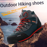 2020 Outdoor Big Size Waterproof Hiking Shoes For Men Suede Breathable Trekking Sneakers Mountain Boots Anti-Slippery Sneakers