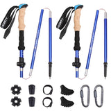 Carbon Fiber Trekking Pole Ultralight Camping Hiking Foldable Nordic Walking Pole
