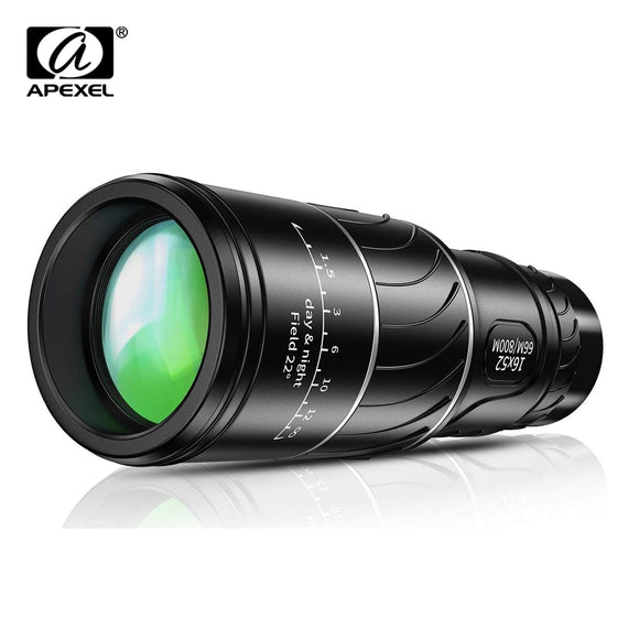 APEXEL HD 16X52 Dual Focus monocular 10x telescope lens 66/800m monocular for Outdoor bird watching Camping Travel Sportshiking