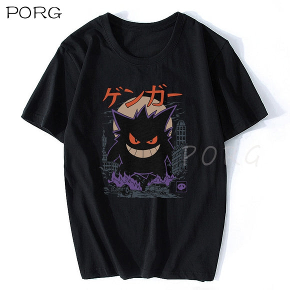 Gengar Kaiju Japan Style Anime T Shirt Aesthetic Gothic Men's T-Shirt