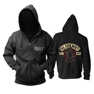 11 design Mask Band slipknot Rock Cotton Hoodies shell jacket Punk haevy thrash Metal Sweatshirt zipper fleece sudadera