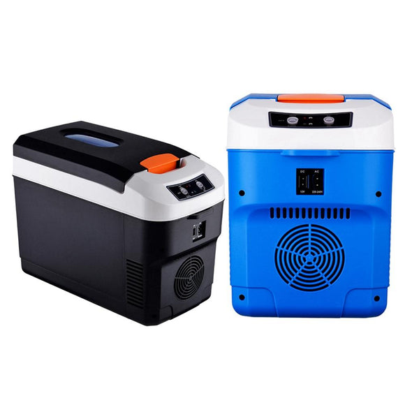 10L Small Refrigerator Car Home Dual-use Refrigerator Outdoor Camping Refrigerator Portable Cooler 12v24V