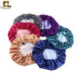 8 pcs/lot Adjust Reversible Satin Bonnet Hair Caps Double Layer Sleep Night Cap Head Cover Hat For Curly Springy Hair Styling
