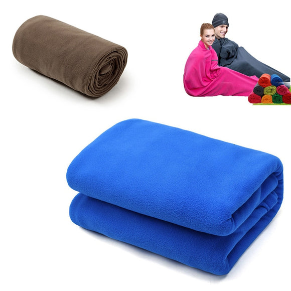 Portable Ultra-light Polar Fleece Sleeping Bag Outdoor Camping  Tent