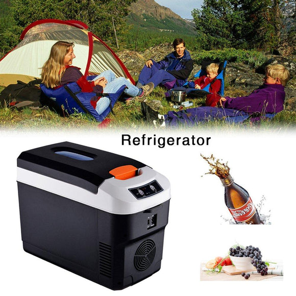 10L Mini Fridge Electric Cooler And Warmer Car Home Dual-use Refrigerator Outdoor Camping Refrigerator Portable Cooler 12V