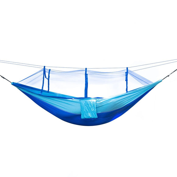 Portable Size Lightweight High Strength Mosquito Net Parachute Hammock Hanging Bed for Outdoor Camping Hunting