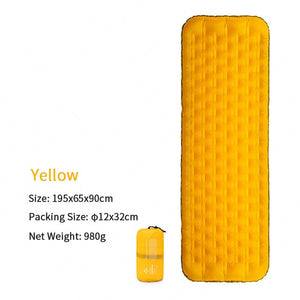 Naturehike New Trachea Support Single Thicken Inflatable Cushion 20D Nylon Double Valve Camping Moisture-proof Pad Portable Mat