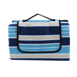 Outdoor Moistureproof Picnic Blanket Picnic Mat Camping Stripe Blanket Beach Waterproof Camping Equipment Mat