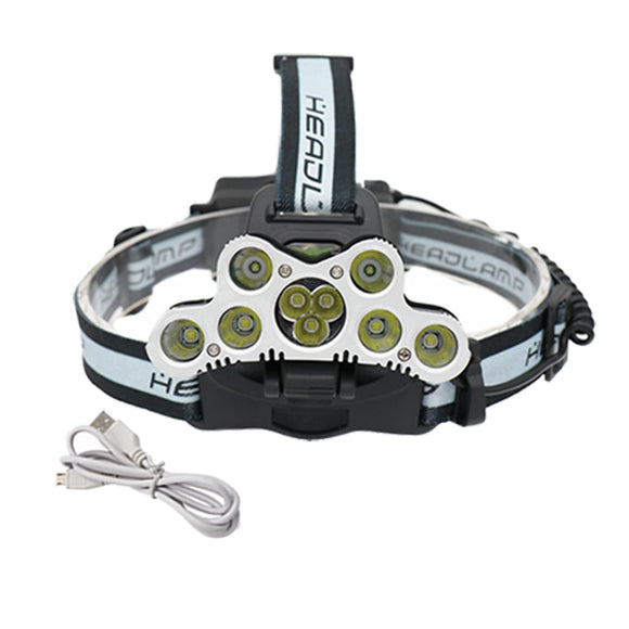 Super Bright 30000LM Headlamp 9 LED Headlight 7xT6+2xQ5 Tactical Head Lamp Rechargeable Camping Torch Flashlight Fishing Light