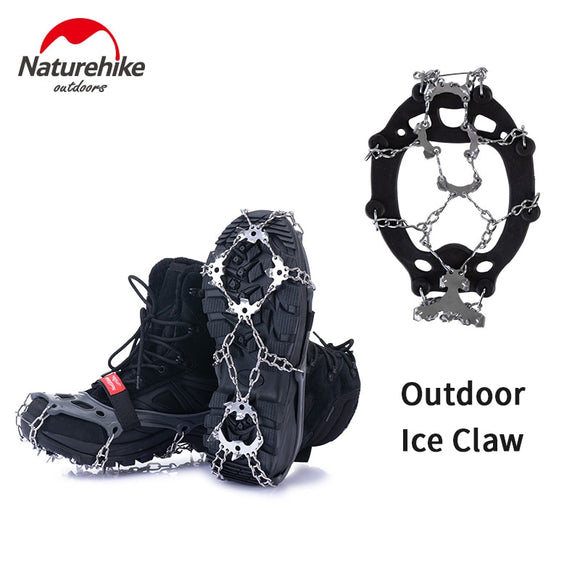 Naturehike 13/19 Teeth Anti-slip Climbing Crampons Outdoor Ice Claws Snow Gripper Hiking Shoe Boot Grips Chain Spike