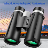 #H35 10X42 Powerful Binoculars Binoculars with Low Light Night Vision For Outdoor Hunting Camping Hiking Traveling Bird Watching