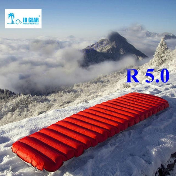 R5.0 JR GEAR PRO Ultralight Inflatable Dampproof TPU Film Sleeping Pad / Bed Outdoor Pus Size Camping Tent Air Mat Mattress