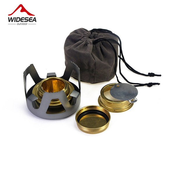 High Quality Outdoor Picnic Stove New Mini Ultra-light Spirit Combustor Alcohol Stove Camping Furnace Camping Portable Folding