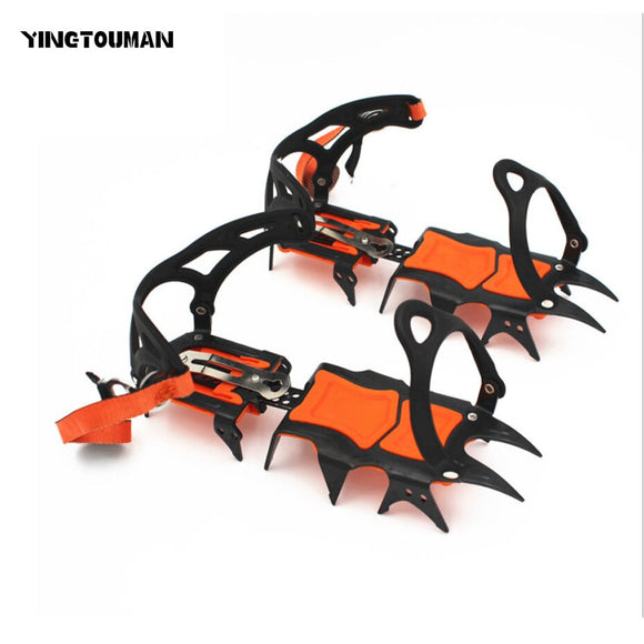 YINGTOUMAN 14-teeth Anti-Slip Snow Big Ice Gripper For Mountaining Climbing Hiking Practical Grip Spike Shoe Crampon