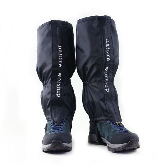 1 Pair Waterproof Outdoor Hiking Walking Climbing Hunting Snow Legging Gaiters Ski Gaiters For Men And Women