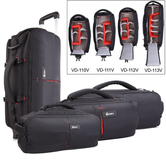 EIRMAI Photo Shoulder Camera Bag DSLR Nylon Bags Trolly Case Waterproof Shoulder Backpack Laptop Tripod Lens Padded Case Pouch