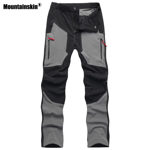 Mountainskin Summer Men Sports Hiking Pants Waterproof Breathable Outdoor Camping Trip Trekking Fishing Tactical Trousers VA259