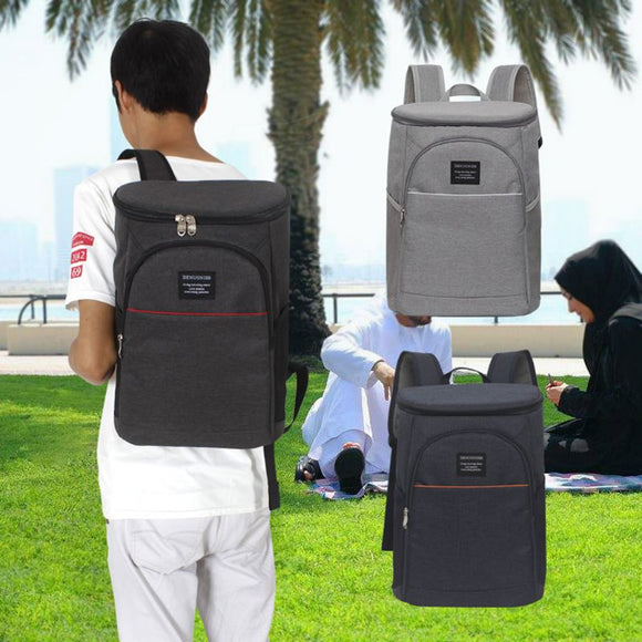 18L Insulated Cooling Backpack Picnic Camping Hiking Beach Park Ice Cooler Bag Lunch Rucksack Unisex Oxford fabric Backpacks