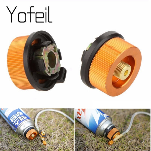 Outdoor Camping Hiking Picnic Gas Tank Adapter Stoves Connector Conversion Split Type Gas Furnace Connector Cartridge Accessory