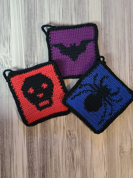 Set of 3 Spooky Pot Holders