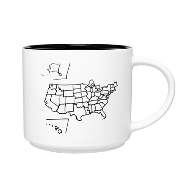 Al's Hand-Drawn USA Map Coffee Mug