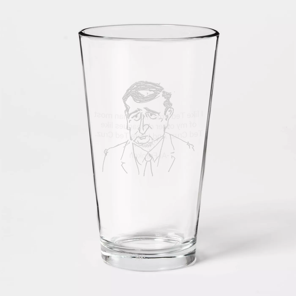 And I Hate Ted Cruz Etched Pint Glass