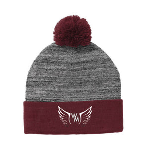 WMHS Athletic Boosters Pom Pom Beanie