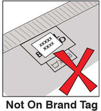 Stick On Label Instructions Not on Fabric