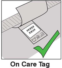 Stick On Label Instructions On Garment Care Tag