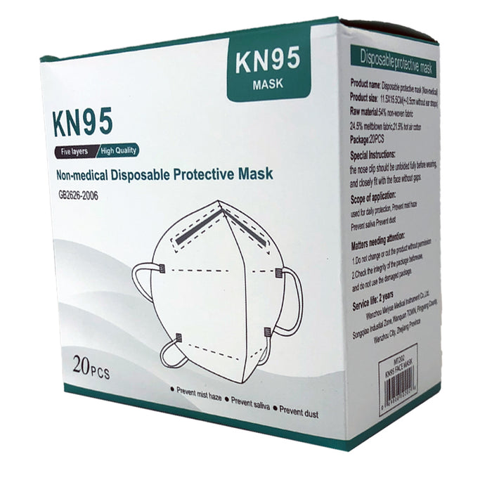 KN95 Disposable Masks - 20 Pack