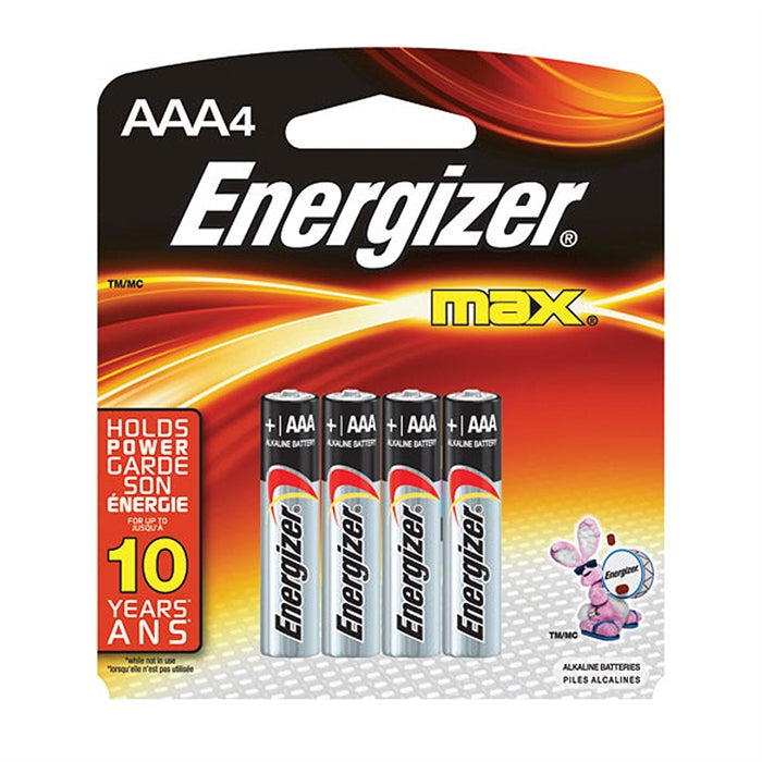 Energizer Max AAA4 Battery