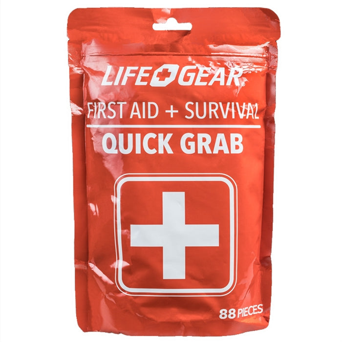Life Gear 88pc Quick First Aid / Survival Kit