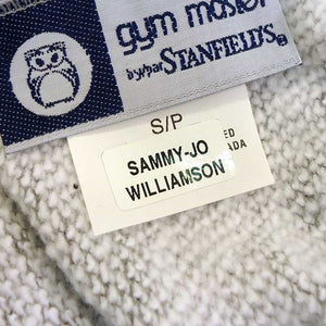 Stick On name labels on a Garment Tag