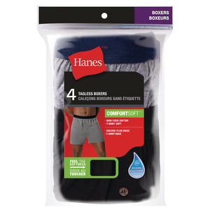 Hanes Men's Tagless Boxer 4-pack