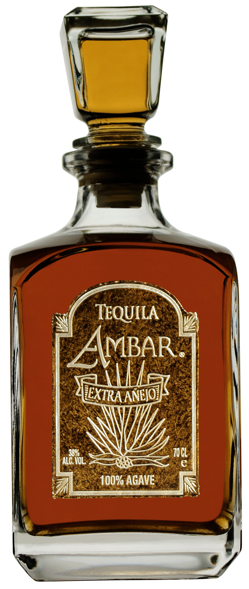 Tequila Ambar Ultra-Premium 100% Highland Agave, Extra-Anejo.
