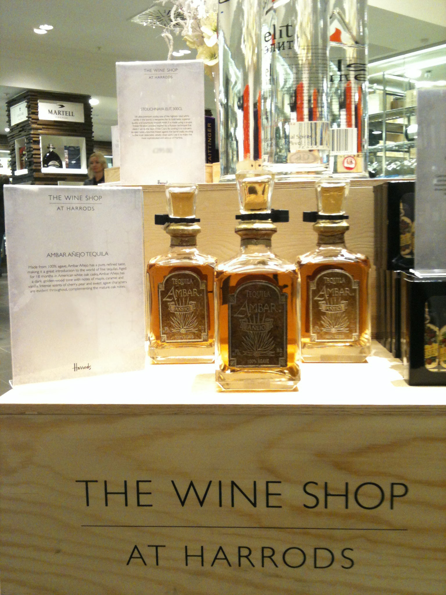 Tequila Ambar Anejo in Harrods