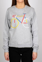 Load image into Gallery viewer, Sweatshirt Ystad Color Bike Grey Melange