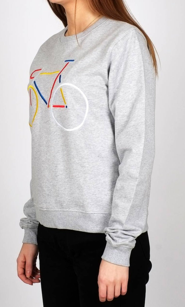 Sweatshirt Ystad Color Bike Grey Melange