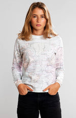 Load image into Gallery viewer, Sweatshirt Ystad Map Multi Color