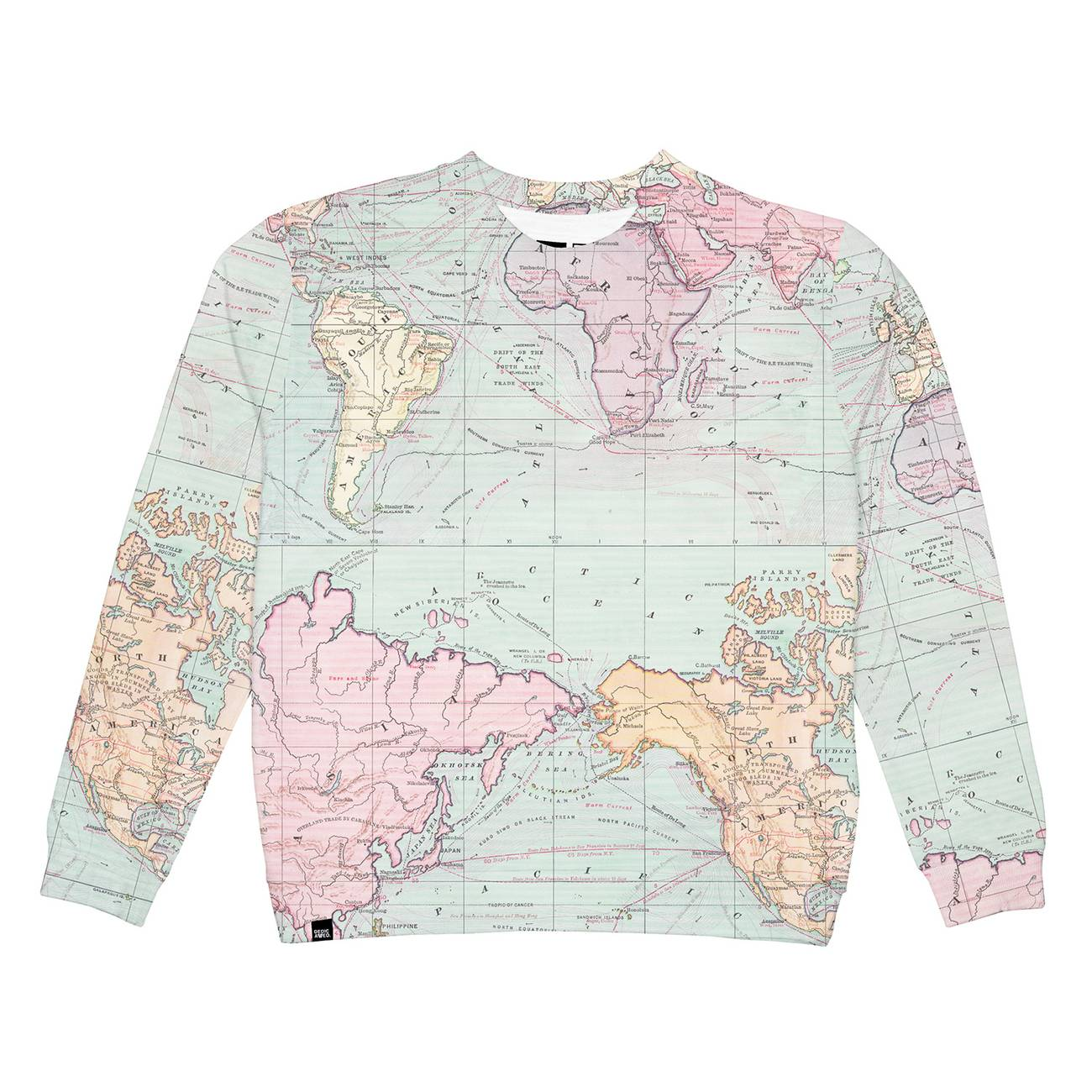 Sweatshirt Ystad Map Multi Color
