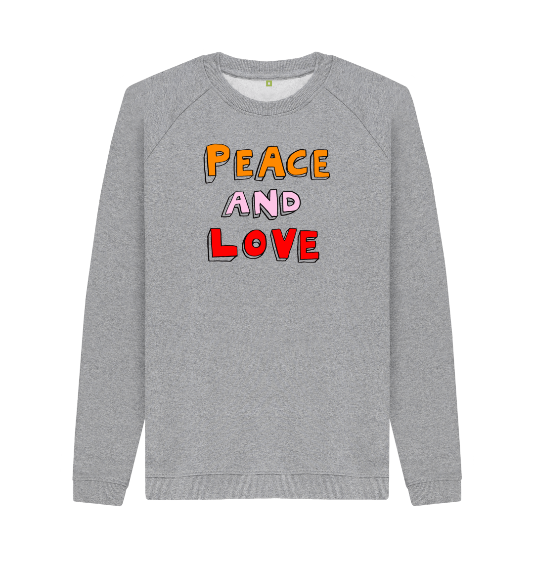 Bella Freud Peace and Love Grey Jumper